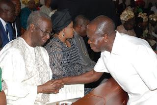 GOV. ADAMS OSHIOMHOLE OF EDO STATE PAYS HOMAGE TO CELEBBRANT, CHIEF TONY ANENIH