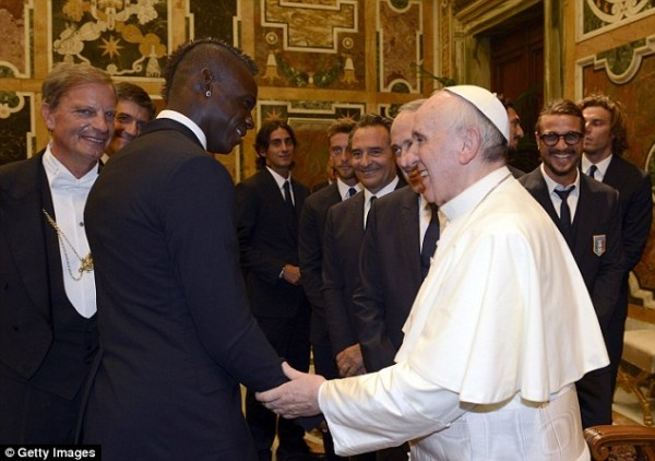 Role Models?: Pope Francis Urge Footballers to Lead By Good Examples, Yes Balotelli Was There.