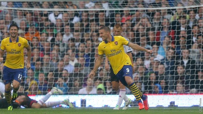 Lukas Podolski Scored a Brace For the Gunners.