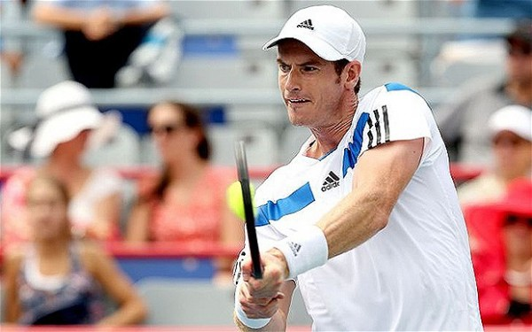 Andy Murray in Action at the Montreal Open, Canada.