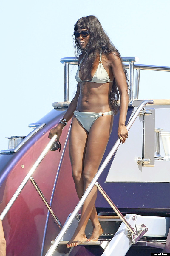 Semi-Exclusive... Naomi Campbell Vacations in Formentera