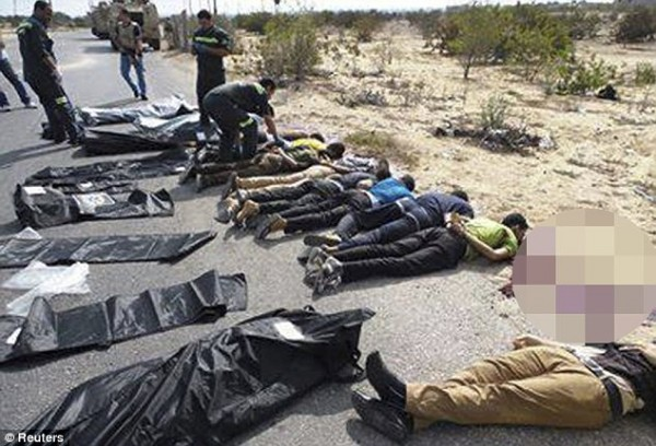 GRAPHIC PHOTOS: Islamic Militants Slaughter 25 Policemen