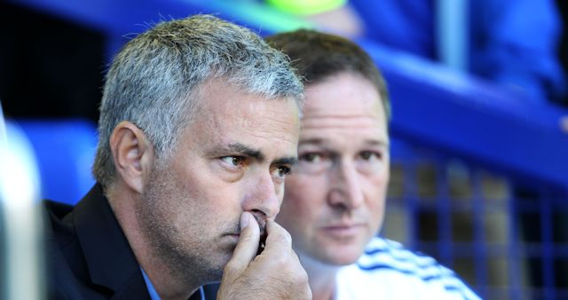 Jose Mourinho Watches Everton Beat His Side.