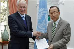 UN report being presented to Secretary-General Ban Ki-Moon