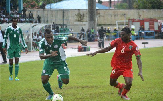 Emenike Versus a Malawian Opponent.