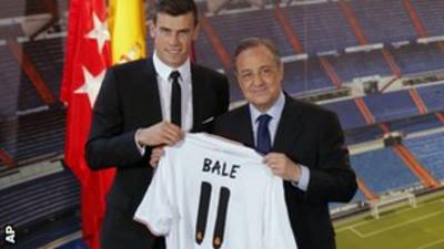 Bale and Florentino Perez.