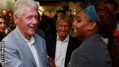 Clinton and Williams: The Elder Statesman Says Serena is an Inspiration to Others.