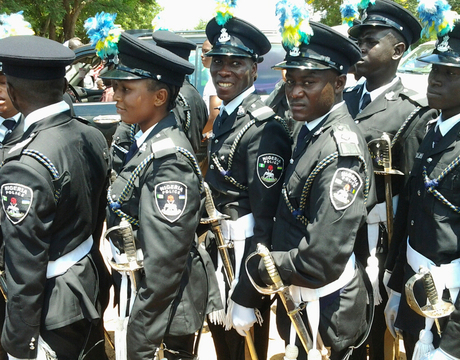 CADET OFFICERS AFTER THEIR PASSING OUT PARADE AT THE POLICE ACADEMY IN WUDIL, KANO, ON TUESDAY.