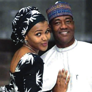 Mohammed Abubakar  and new wife Zarah