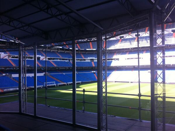 Done Deal: A Stage Erected at the Bernabeu Where Welshman, Bale, Will Be Unveiled.