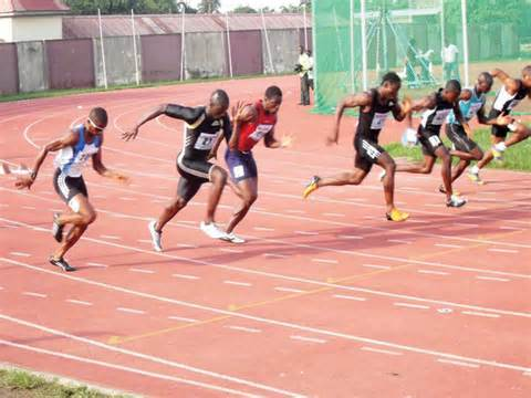 Junior Athletes at the Cross River State Athletic Championships.