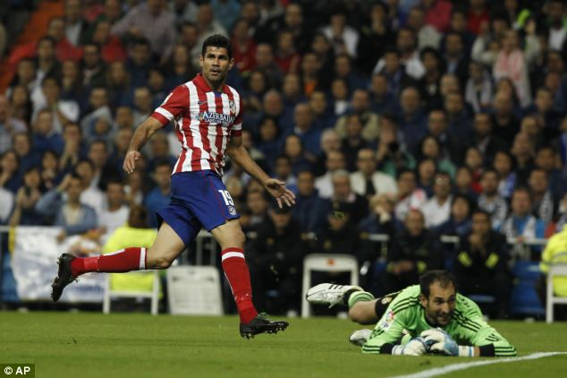 Diego Costa Scored His Seventh Goal in Eight Games in the Madrid Derby.