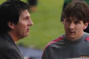 Jorge and Lionel Messi.