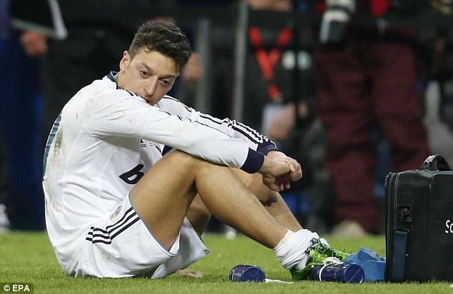 Mesut Ozil After Real's 2-1 Copa Del Rey Loss to Atletico Madrid Last Season.