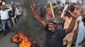Pakistan church protest