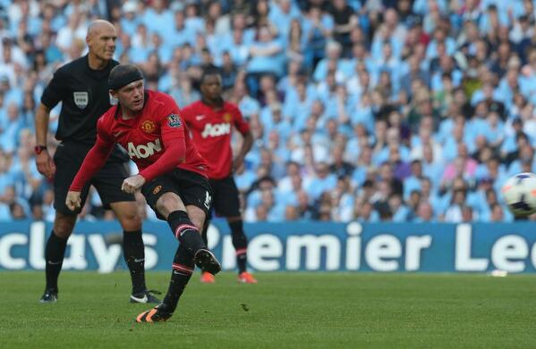 Wayne Roney Got a Consolation for Manchester United At the Etihad Last Night From a Superb Free-Kick.