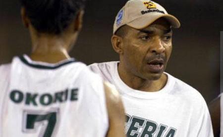 Coach Scott Nnaji of D'Tigress.