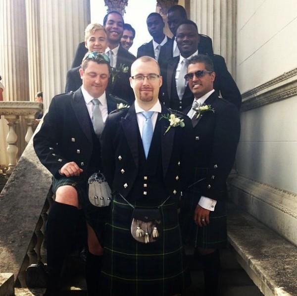 PHOTOS: Dr. Sid's Attire At Traditional Scottish Wedding