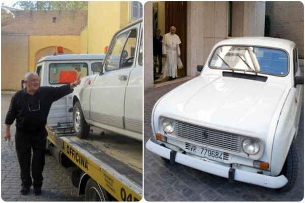SHOCKING: Check Out The Pope's Newest Car