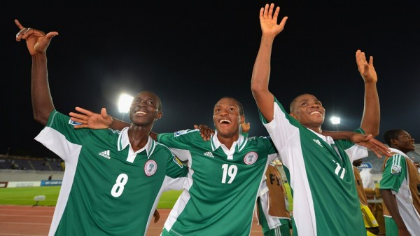 Getty Image: Golden Eaglets Celebrates Victory Over Iran.
