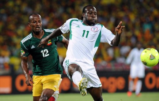 Super Eagles Forward Victor Moses Scored Twice Against Ethiopia in the Group Stage of Afcon 2013.