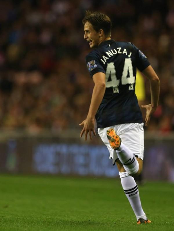 Adrian Januzaj Celebrates His Second Goal.