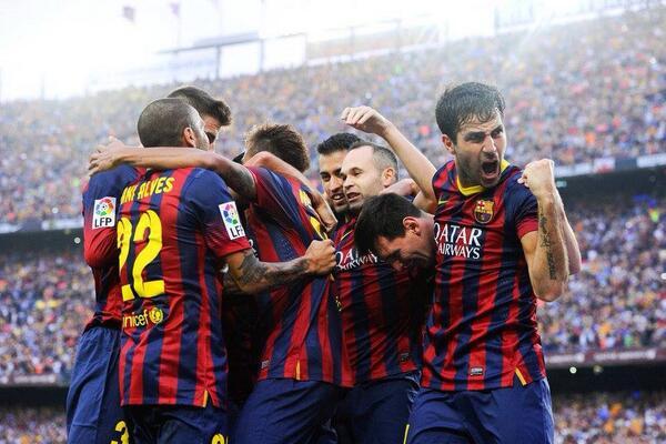 Barcelona Players Celebrates.
