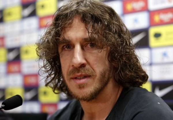 Carles Puyol Rearing to Play in the Clasico.