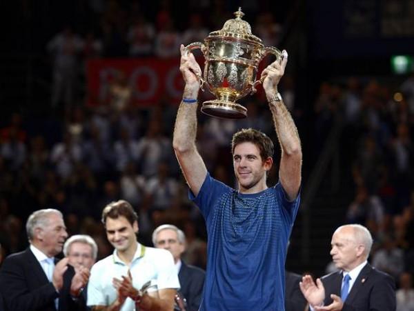 AFP/Getty Image: Juan Martin Del Potro Retains Basel Open Title.