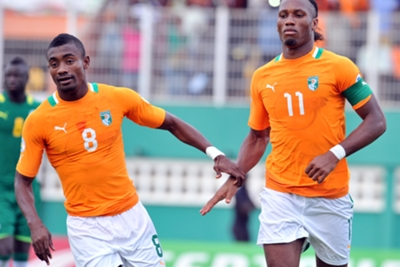 Didier Drogba and Kolo Toure Were Both on Target for The Elephants.