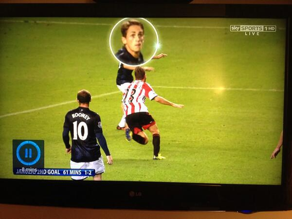 © Sky Sports: Januzaj Pictured Before Firing His Volley Past Westwood.