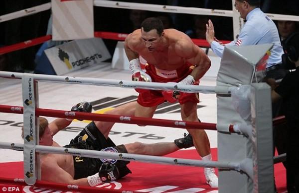 Wlidmir Klitschko Knocked Down Alexander Povetkin Four Times but Won By Unanimous Decision Last Saturday.