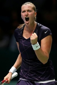 Getty Image: Petra Kvitova Celebrates her Victory Over Germany's Angelique Kerber in Istanbul.