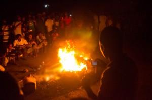 victims were burned on a beach on Thursday  photo: AFP