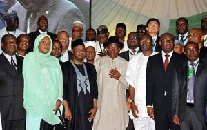 Presidential Group Photograph with the new owners of PHCN successor companies