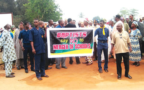 THE PROTESTERS IN IWO, OSUN STATE RECENTLY
