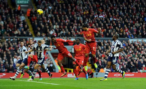 Getty Image: Suarez Scored Thrice to Help Liverpool Beat West Brom.