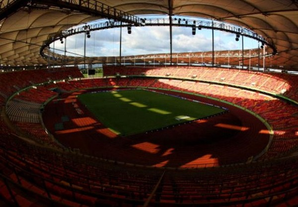 Refurbished Pitch of the Abuja national Stadium.