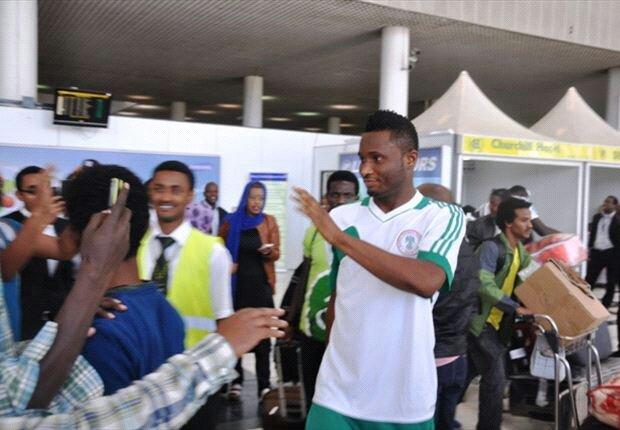 Super Eagles Arrive In Ethiopia (Pictures)
