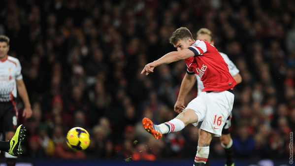 Aaron Ramsey Scored His Tenth Goal of the Ongoing Season Against Liverpool.