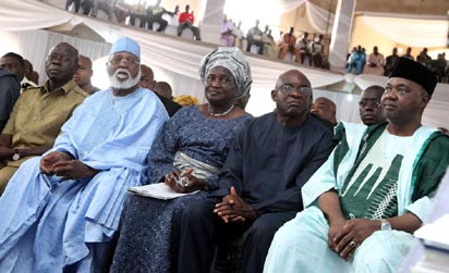 EMINENT PERSONALITIES AT THE BURIAL OF LATE CHIEF OF GENERAL STAFF, VICE ADMIRAL MIKE AKHIGBE