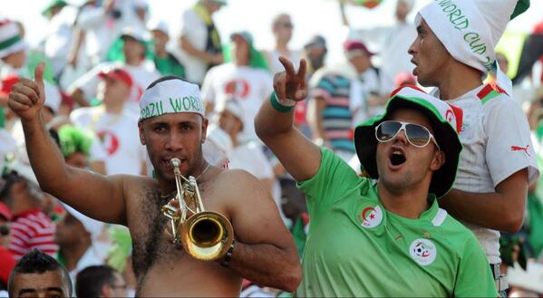 Algerian Fans Celebrates 2014 World Cup Berth.
