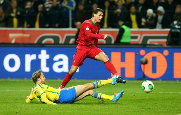 Ronaldo Scored Two Quickfire Goals to Help Portugal Seal Victory at the Friend Arena.