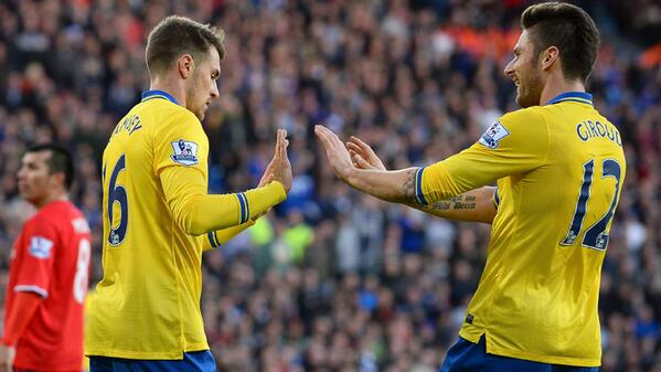 Despite the Rousing Applause, Ramsey for a Low Key Celebration of His Opener.
