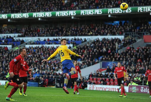 Aaron Ramsey's Opener Against Cardiff.