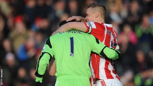 Asmir Begovic Scored Stoke's Only Goal in Saturday 1-1 Home Draw Against Southampton.