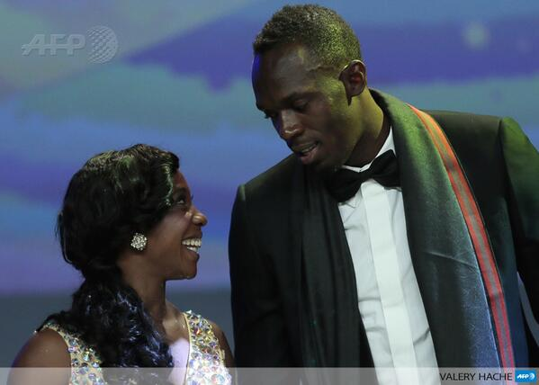 Image: AFP. Usain Bolt and Shelly-Ann Fraser-Pryce named 2013 World Athletes of the Year.
