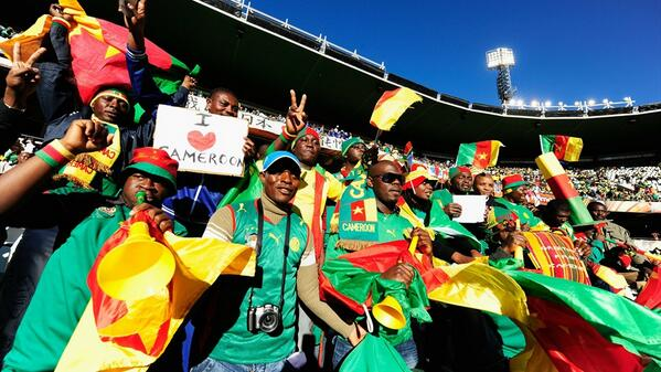 Getty Image: Cameroon Fans Celebrates World Cup Berth in Yaounde.