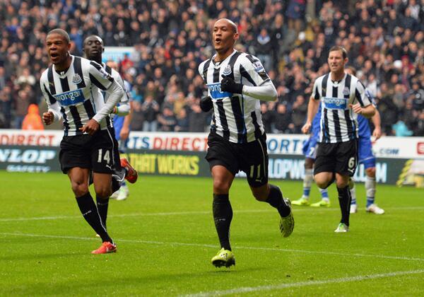 Loic Remy Celebrates Newcastle's Second Goal.