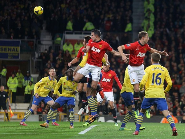 Van Persie's Header in the 27th Minute Was the Deciding Factor in Sunday's Encounter.